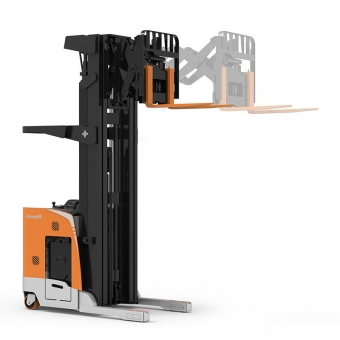 Double deep reach forklift